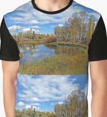 Round lake, Thousand Lakes Mountain Graphic T-Shirt