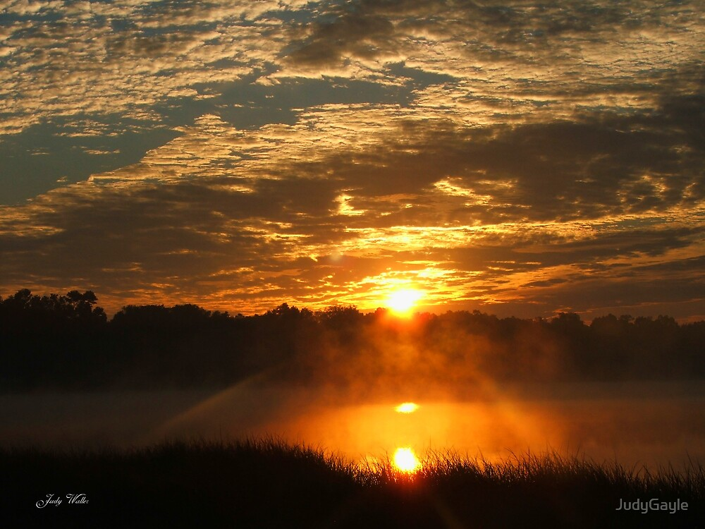 Morning Lake Sunrise by Judy Gayle Waller