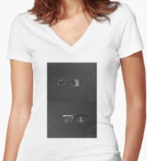 Particles Women's Fitted V-Neck T-Shirt