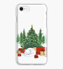 Christmas with Arctic Fox iPhone Case/Skin