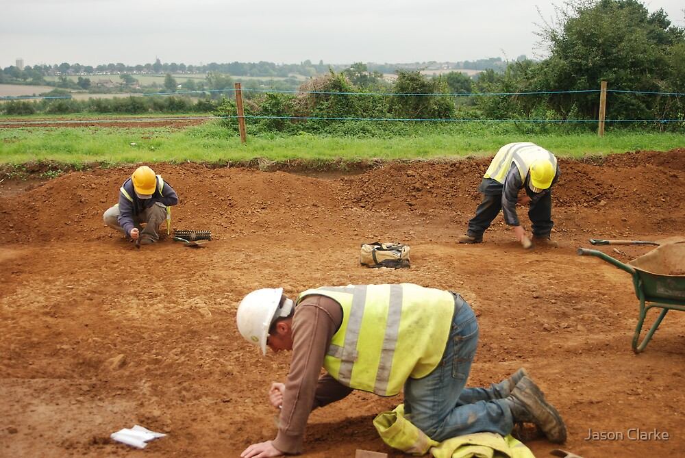 Three Archaeologists and a Roman Road by Jason Clarke