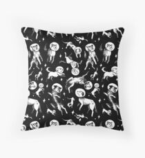 Space dogs (black background) Floor Pillow