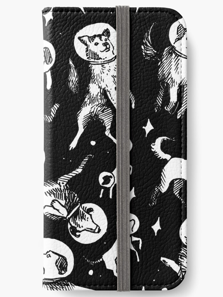 Space dogs (black background) by Celeste Ciafarone