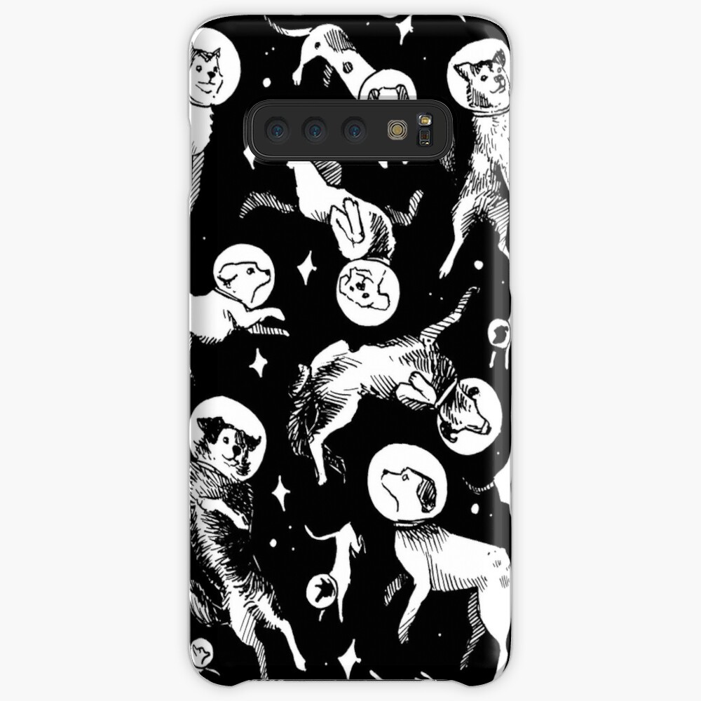 Space dogs (black background) Case & Skin for Samsung Galaxy
