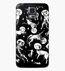 Funda/vinilo para Samsung Galaxy Space dogs (black background)