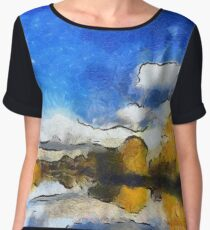 Autumn on the Thames Women's Chiffon Top