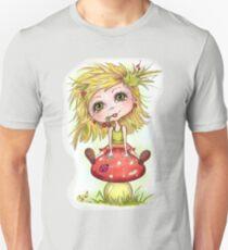 Girl on Mushroom Unisex T-Shirt