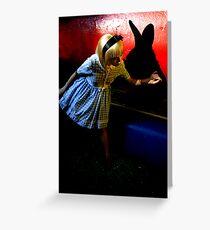Chasing the white rabbit. Greeting Card