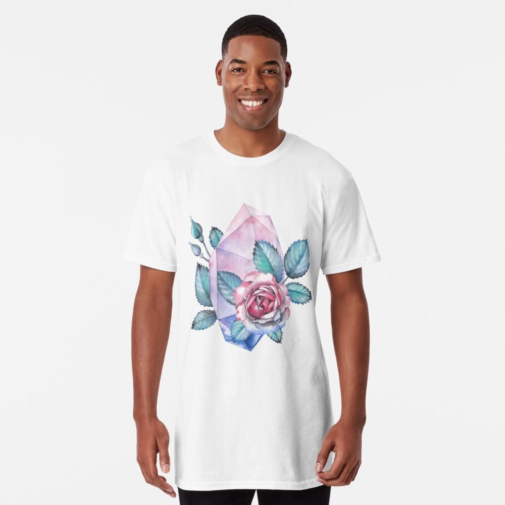 Nette Aquarellsammlung Rosen und Kristalle Longshirt