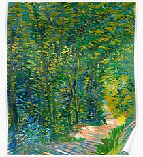 "Van Gogh ""Path in the Wood"", 1887 Poster"