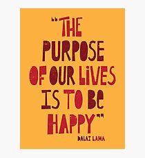 Sei glücklich Fotodruck