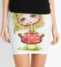 Girl on Mushroom Mini Skirt