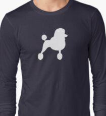 Standard Poodle Silhouette with Fancy Haircut Long Sleeve T-Shirt