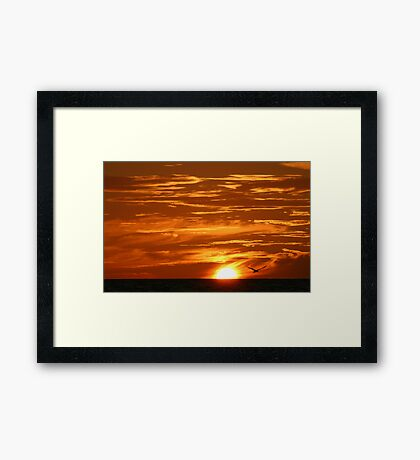 Clouds of Gold Framed Print