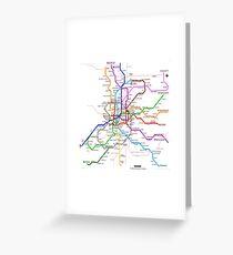 Madrid underground map Greeting Card