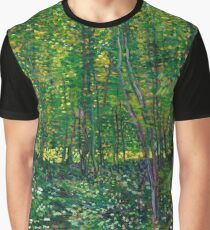 """Van Gogh """"Trees and undergrowth"""", 1887 Graphic T-Shirt"""