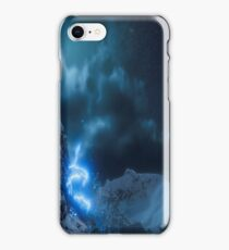 Blue Mountain Lightning Strike iPhone Case/Skin
