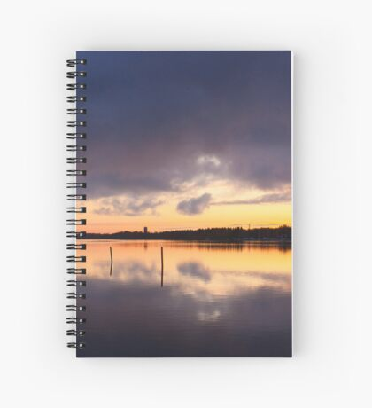 Oulu sunset Spiral Notebook