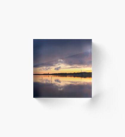 Oulu sunset Acrylic Block