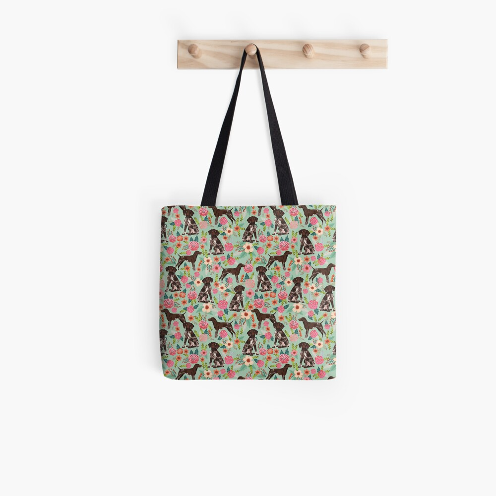 German Shorthair Pointer floral dog pattern gifts for dog lovers Tote Bag