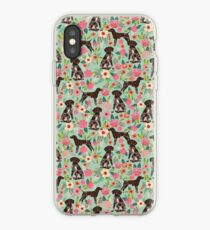 German Shorthair Pointer floral dog pattern gifts for dog lovers iPhone Case