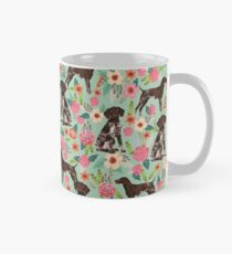 German Shorthair Pointer floral dog pattern gifts for dog lovers Mug