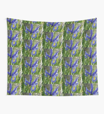 Japanese Iris Wall Tapestry