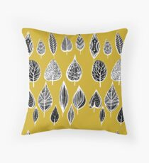 leaves of trees decor decoration yellow Floor Pillow