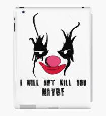 Halloween clown iPad Case/Skin