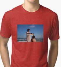 """Una historia con Cristo y Jesus"" una Pelicula de Oldren Romero Tri-blend T-Shirt"