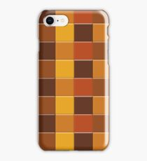 Square Tiles Autumn Colours iPhone Case/Skin
