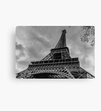 Black and White Eiffel Tower Canvas Print