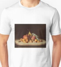 Still Life with Fruit and Nuts by Robert Seldon Duncanson Unisex T-Shirt