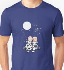 Romantic Cows - Cow - Star - Love - Comic - Gift Unisex T-Shirt