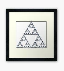 Sierpiński Arrowhead Fractal - 7 Steps Framed Print
