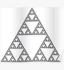 Sierpiński arrowhead curve - 7 Steps Poster