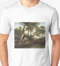 Man Fishing by Robert Seldon Duncanson Unisex T-Shirt