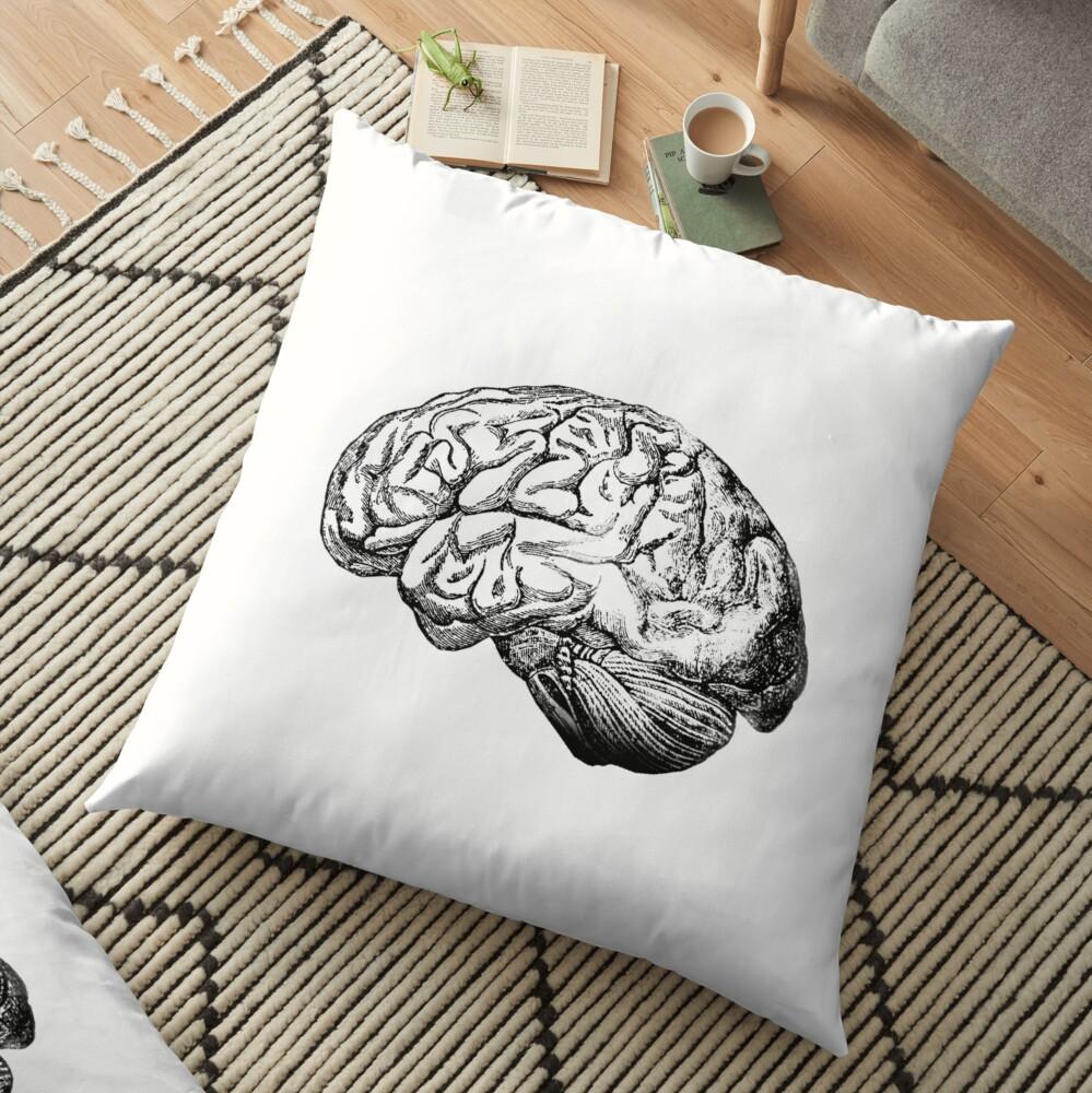Anatomie des Gehirns Bodenkissen