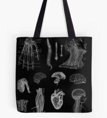 Bolsa de tela Impresión de la anatomía del vintage