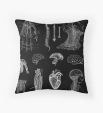 Vintage Anatomy Print  Throw Pillow