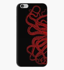 Rote Weinlese-Kraken-Tentakel-Illustration iPhone-Hülle & Cover