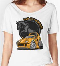 Ferrari (Orange/Black) Wild Horse Women's Relaxed Fit T-Shirt