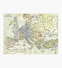 historical map Photographic Print