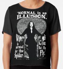 """Blusa Morticia Addams: """"Normal es una ilusión ..."""""""