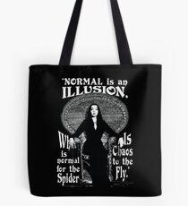 """Bolsa de tela Morticia Addams: """"Normal es una ilusión ..."""""""