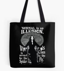 """Morticia Addams-""""Normal Is An Illusion..."""" Tote Bag"""