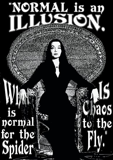 Quot Morticia Addams Quot Normal Is An Illusion Quot Quot Photographic