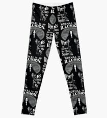 """Morticia Addams-""""Normal Is An Illusion..."""" Leggings"""