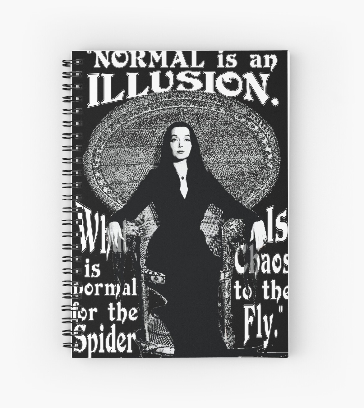 Morticia addams normal is an illusion spiral notebooks by torg morticia addams normal is an illusion altavistaventures Choice Image