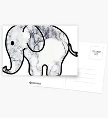Elephant with Marble Fill Postcards